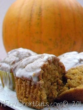 These pumpkin cupcakes are the perfect fall treat!.