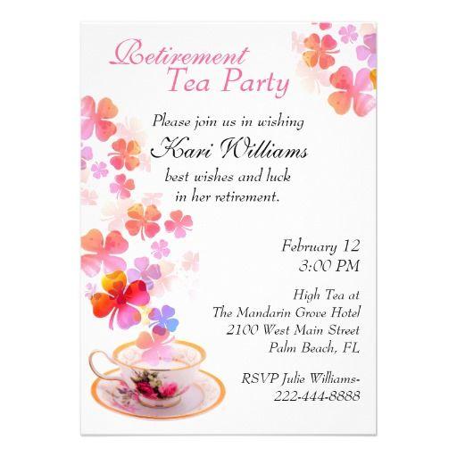 13 best Retirement tea party images on Pinterest Tea parties - tea party invitation