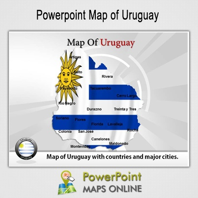 Get the PowerPoint Map of Uruguay http://www.powerpointmapsonline.com/powerpointmaps.aspx/Map-of-Uruguay-58