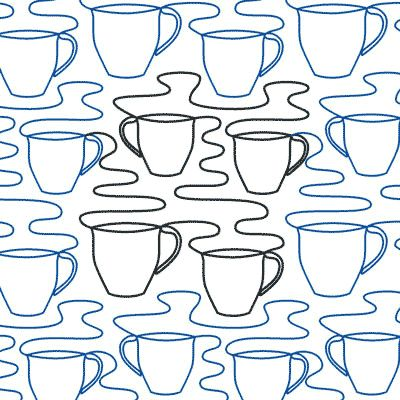 Morning Roast - Digital - Quilts Complete - Continuous Line Quilting Patterns