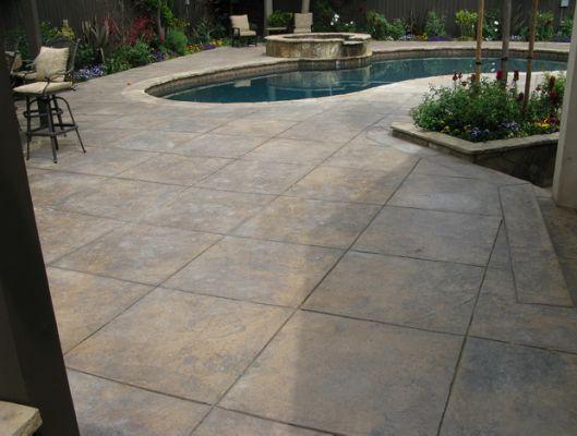 Colored Concrete Patio Designs