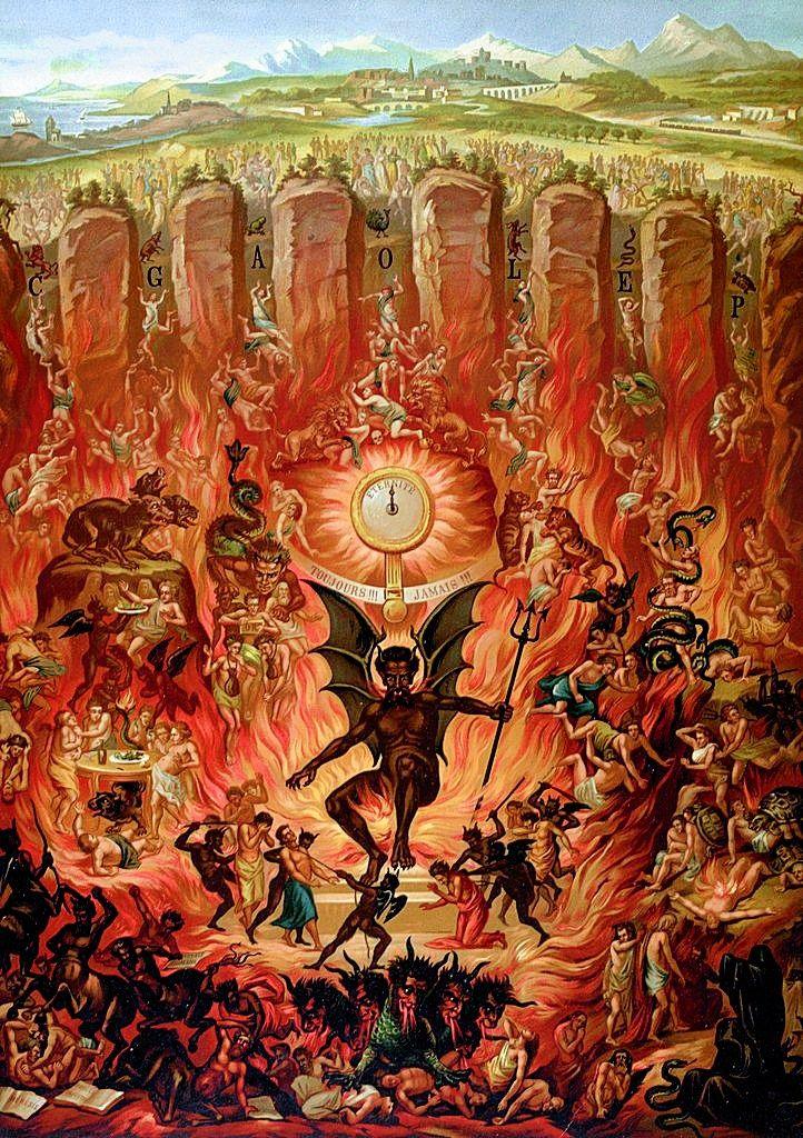 medevil paintings of hell preg233belin tarot history the