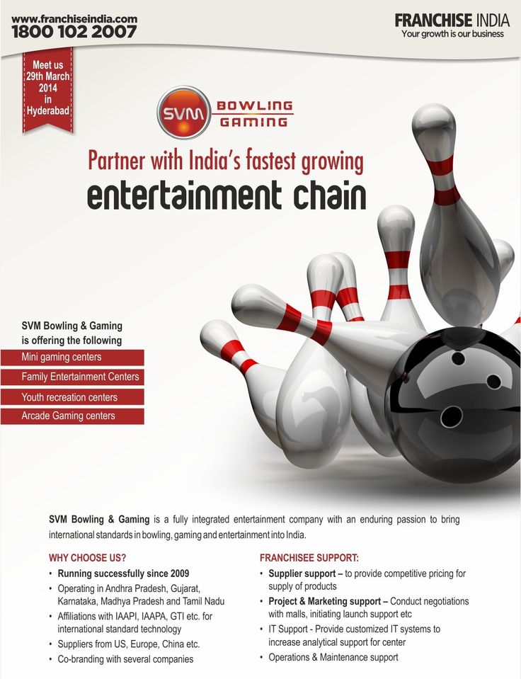 Start your own Bowling & Gaming Centre. Meet SVM Bowling
