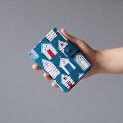 wallet  Peněženka Plážový domky :: LOOKrecia - LOOKrecia| Ručně šité originální kabelky, homeopatická pouzdra, dámské peněženky, kabelky pro děti, bokovky, elegantní ledvinky