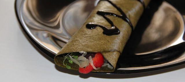 Gitta nyersétel blogja: Nyers vegán tortilla zöldségekkel, balzsamecettel
