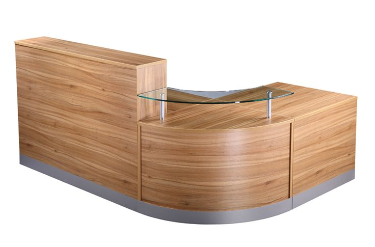 NCT Curved Reception desk in American Walnut