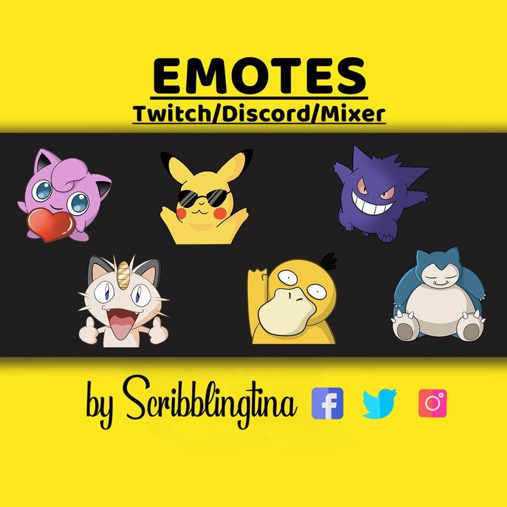 Pokemon emotes, twitch emotes, twitch affiliate, streaming