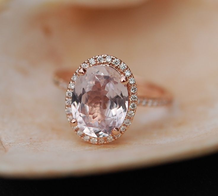 »Ice Peach #Sapphire Ring #Rose #Gold #Engagement #Ring от #EidelPrecious« #wedding #weddinginspiration #jewelry