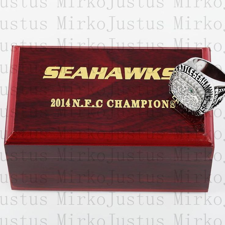 2014 NFL Seattle Seahawks 3D Design High Quality Replica CHAMPIONSHIP RING with Wood BOX as Shown Free Shipping