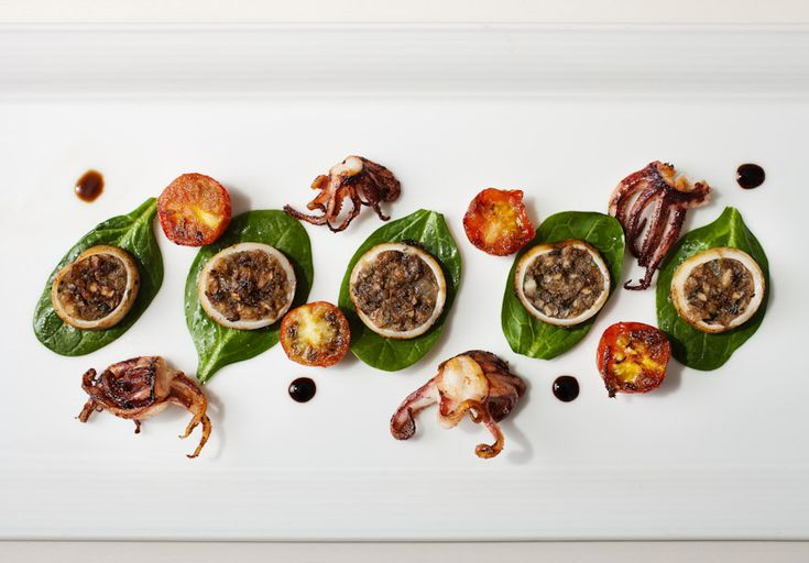 Squid Stuffed With Wild Mushrooms