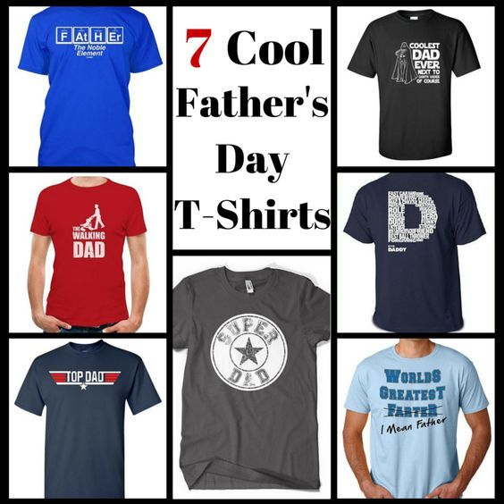 Show dad how much you care! These cool Father's Day T-shirts would make great Father's Day gifts.