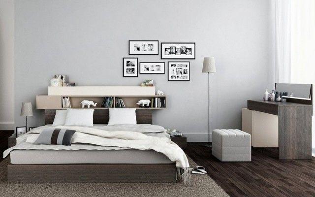 Tête de lit avec rangement en 57 idées pour ranger et décorer la chambre!