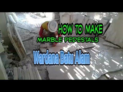 CARA MEMBUAT PEDESTAL MARMER / MARBLE PEDESTALS