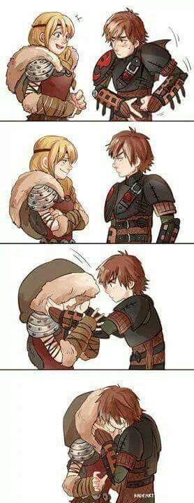 how to train your dragon kissing part