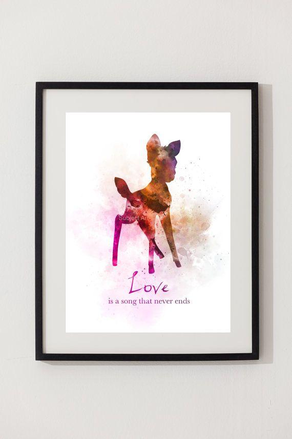 Bambi Quote ART PRINT illustration Disney inspired Wall Art – Cori