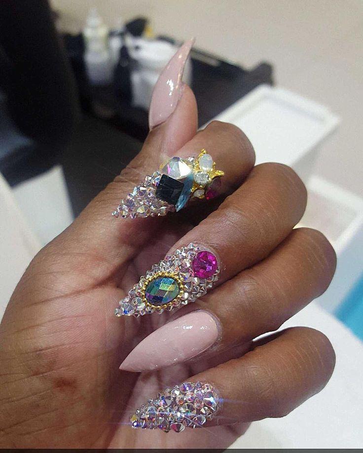 The 25+ best Ghetto nails ideas on Pinterest | Sparkle ...