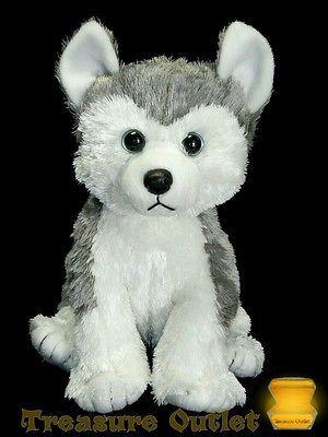 Ty Stuffed Plush Beanie Slush Siberian Husky Puppy Dog 11in 2015