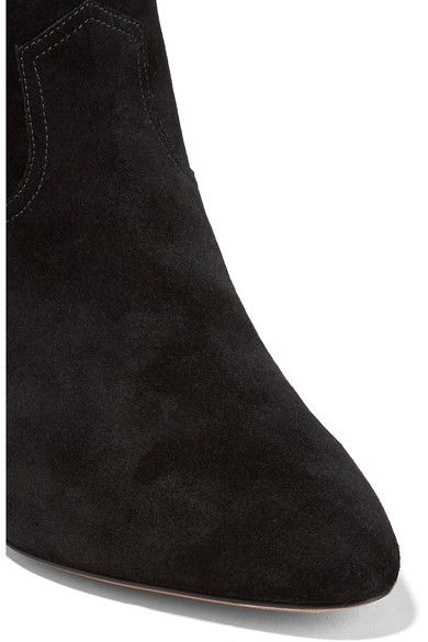 Marc Jacobs - Georgia Leather-trimmed Suede Ankle Boots - Black