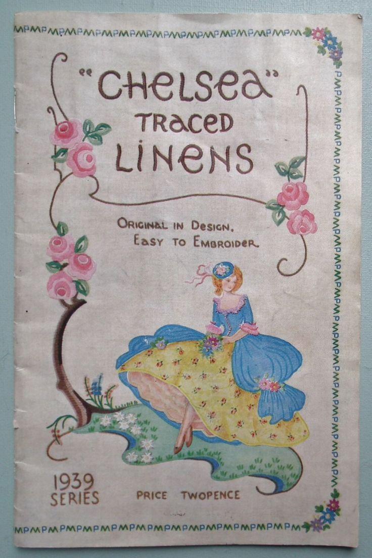 Vintage 30s ricamo catalogo Chelsea rintracciati biancheria anni trenta disegni per tovaglie di lino domestico ecc fiori crinolina Lady di sewmuchfrippery su Etsy https://www.etsy.com/it/listing/152341459/vintage-30s-ricamo-catalogo-chelsea