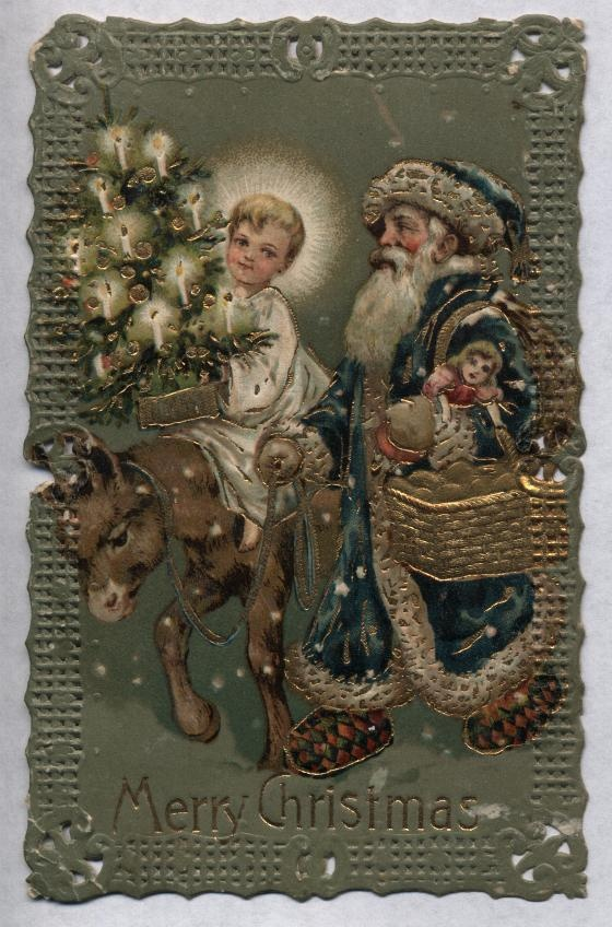 Beautiful old world Santa