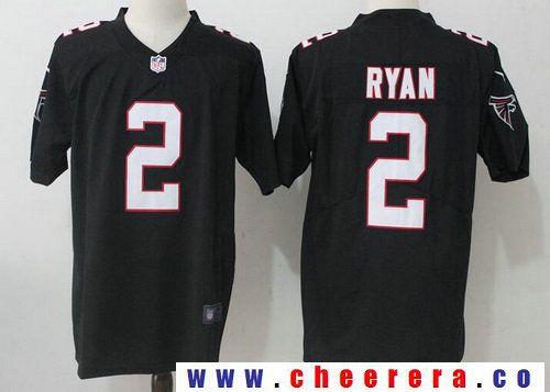 Men s Atlanta Falcons  2 Matt Ryan Black 2017 Vapor Untouchable Stitched  NFL Nike Limited Jersey ed3dc9b0b