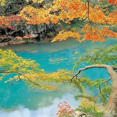 厳美渓の紅葉 岩手県