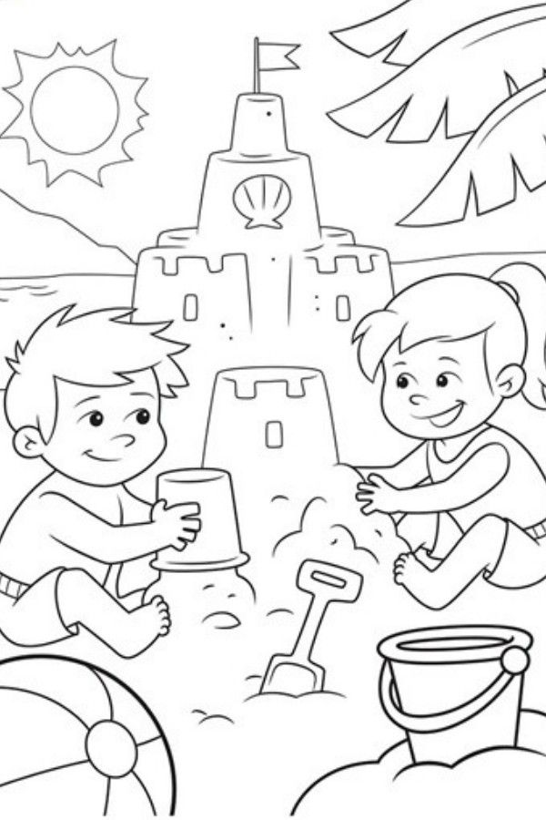 Free Summer Coloring Pages Summer Coloring Pages Beach Coloring Pages Crayola Coloring Pages