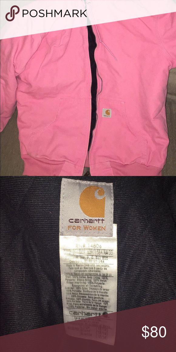 Pink Carhartt Worn a few times, no marks, large but fits M Carhartt Jackets & Coats
