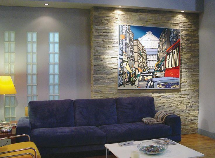 131 besten wandgestaltung wohnzimmer bilder auf pinterest wandgestaltung wohnzimmer dachboden - Steinwand paneel ...