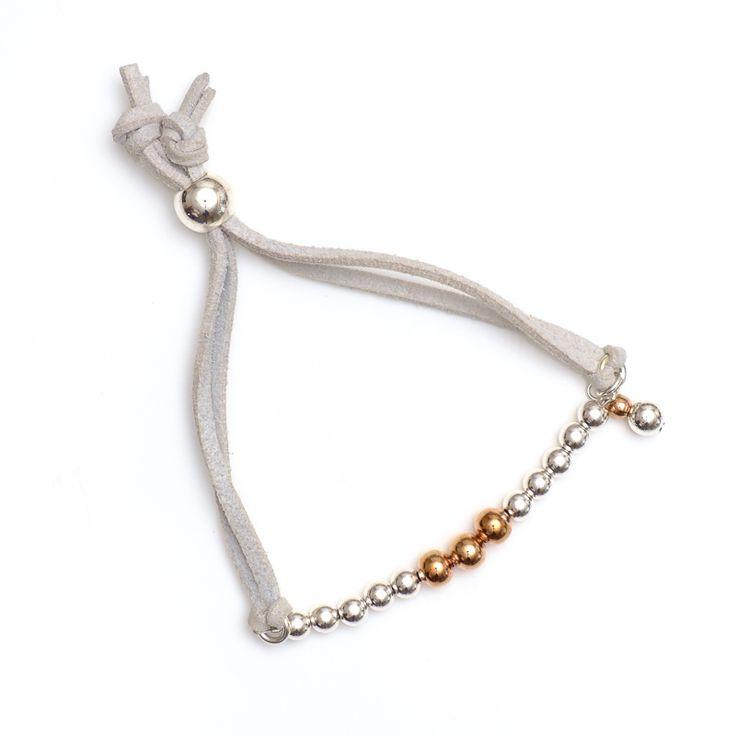 xada jewellery - Boho Copper and silver suede bracelet, $24.95 (http://www.xadajewellery.com/shop-by-collection/boho-copper-and-silver-suede-bracelet/)