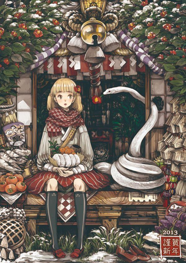 Anime arts by isuZu Anime Art, аниме, арт, длиннопост, Животные, помидор