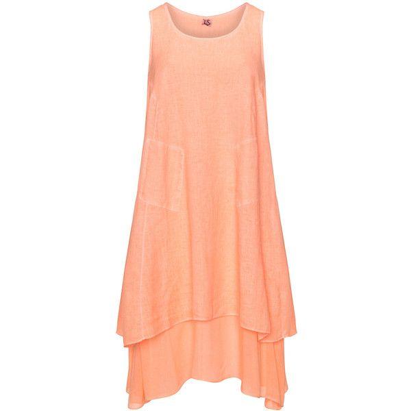 K g plus size dresses orange