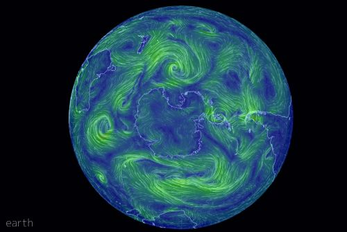 EARTH NULLSCHOOL - beautiful real time weather patterns.  Great for Civil Defence activations related to weather