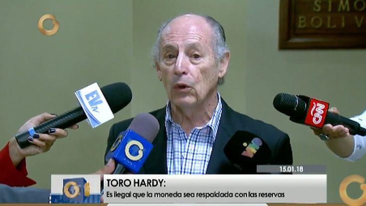 """El analista petrolero José Toro Hardy señaló que la criptomoneda anunciada por el gobierno nacional, la cual será respaldada por el petróleo """"no es una criptomoneda como tal"""""""