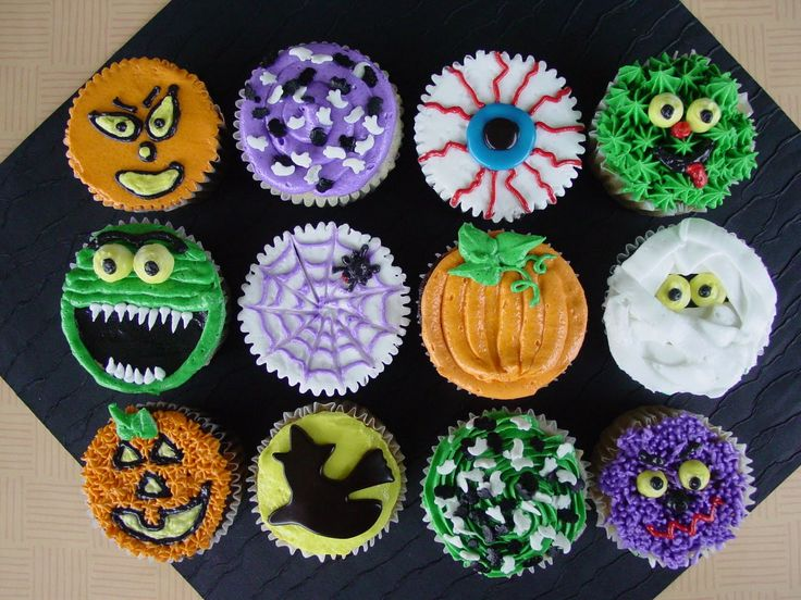 76 best halloween cupcakes images on pinterest halloween recipe conch fritters and halloween - Halloween decorations for cupcakes ...