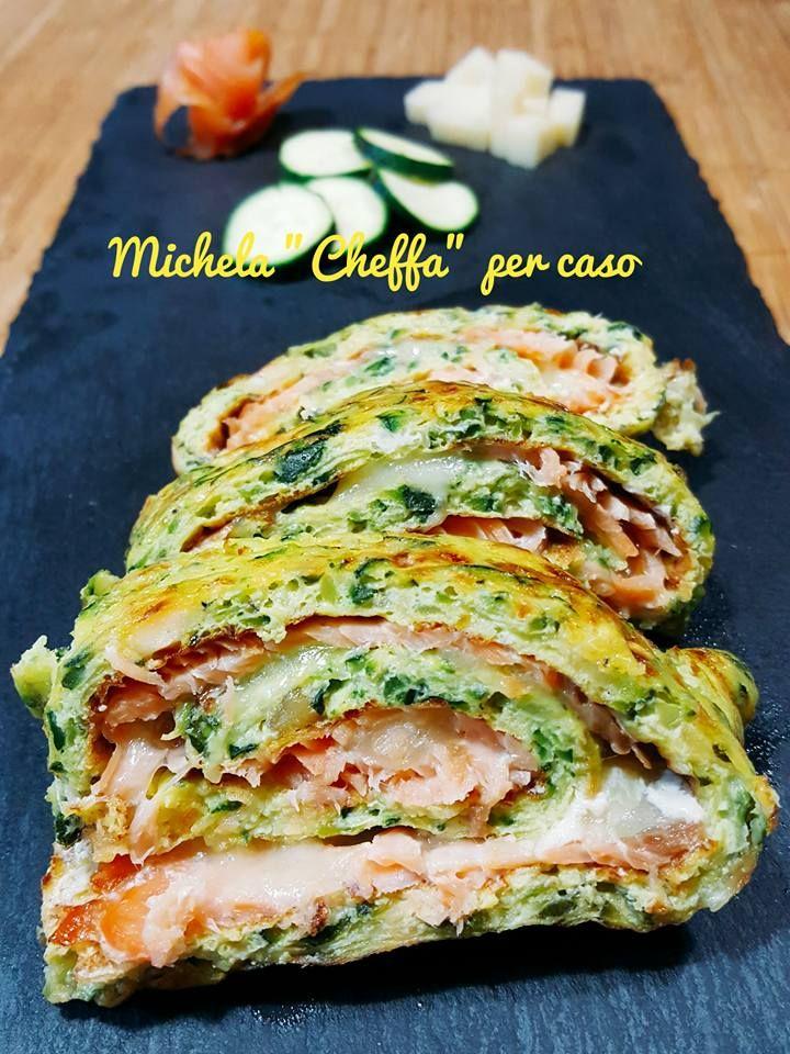 Rotolo+di+zucchine+al+forno+con+salmone+e+fontina!