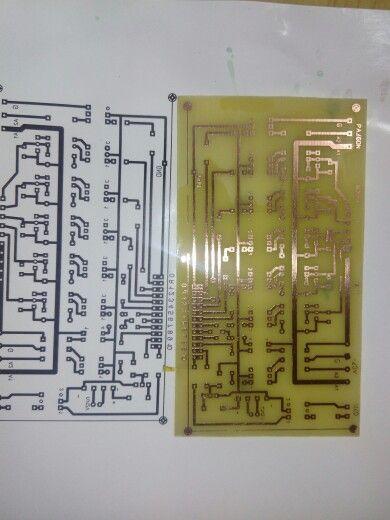 Печатная плата изготовленная по методу ЛУТ #pcb #electronics