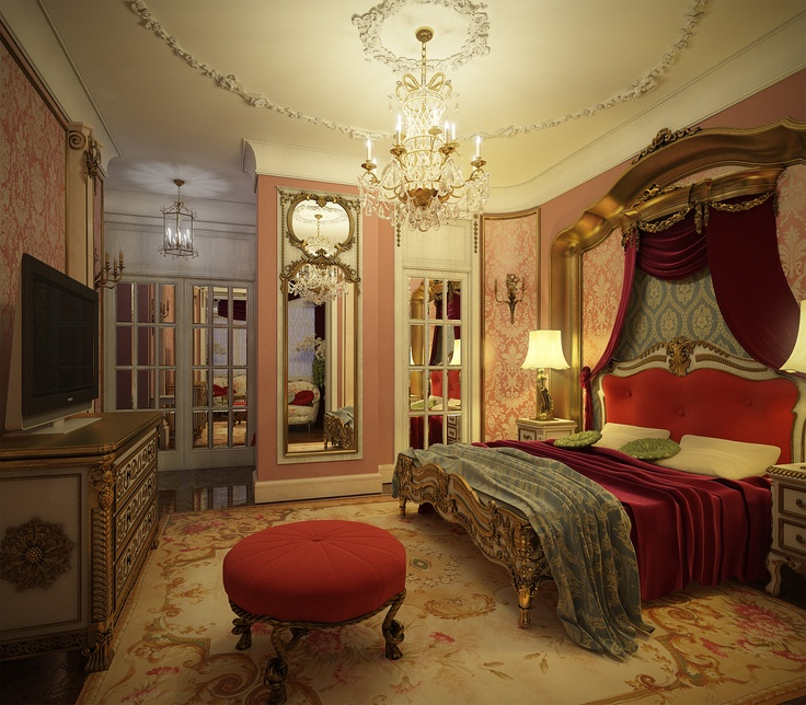 Opulent bedroom romantic bedroom decor french bedroom for A bedroom has a length of x 3