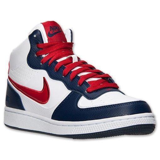 old school nike red white blue jordan shoes. Black Bedroom Furniture Sets. Home Design Ideas