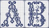 Sajou 602 cross stitch monograms