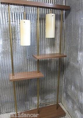 Mid Century Modern Wall Unit Room Divider Book Shelf Floor Lamp 60s Shelves Vtg   eBay