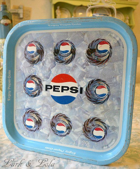 Vintage Pepsi Tray: Cocacolatrays Cocacolaglass, Porcelainsigns Cocacolacups, Cocacola Cocacolasigns, Coca Cola Signs, Cola Trays, Vintagesigns Porcelainsigns, Pepsi, Vintage Tin Metal Enamel, Cocacolawebsite Cocacolafridge