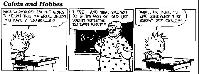 Someone Taught A Calvin And Hobbes Based Lesson Plan Into