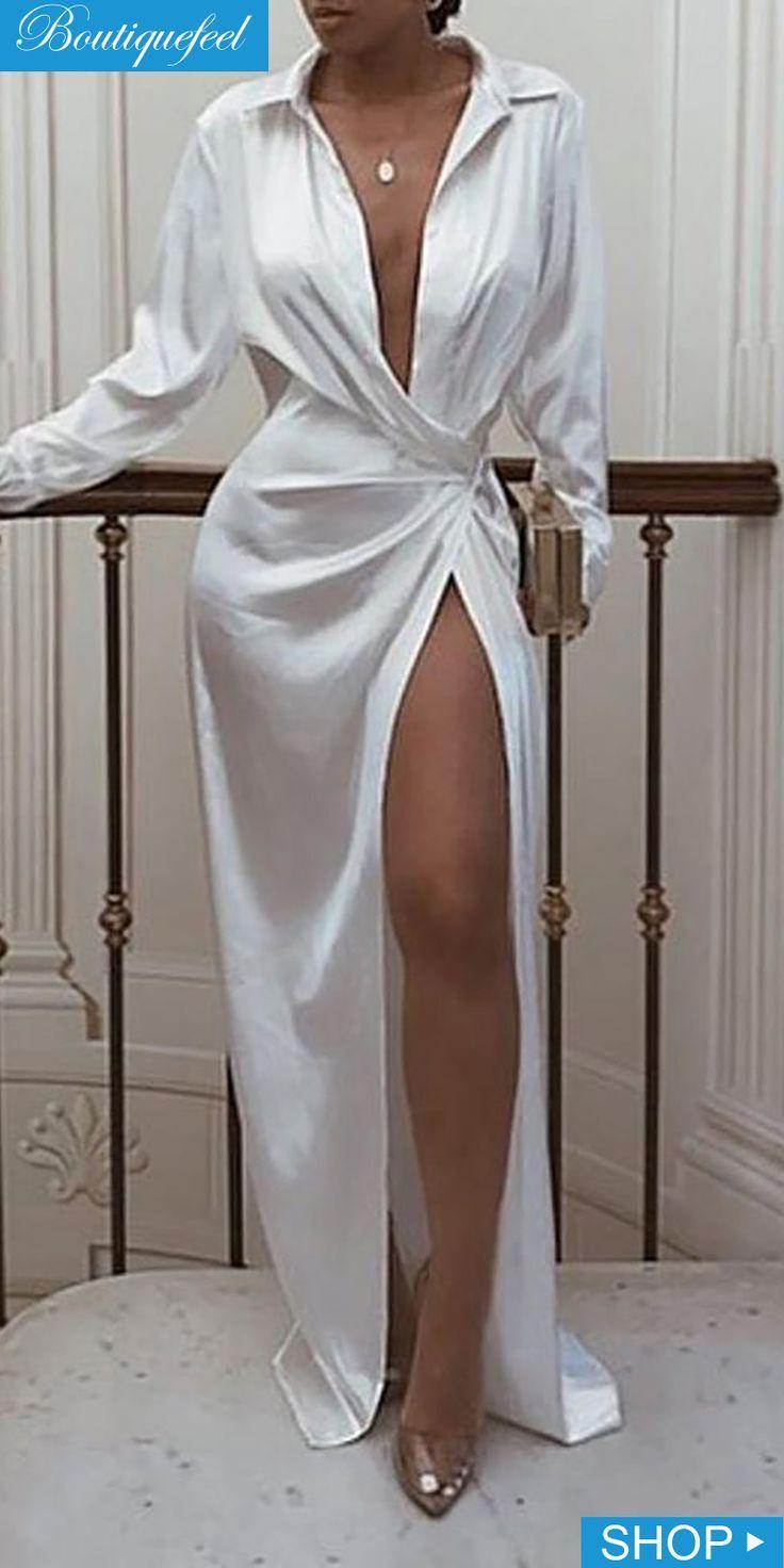 Solides Hemdkleid im gedrehten Design   – Skirt outfits