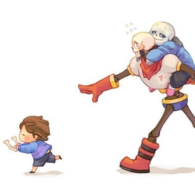 2/2. - Run frisk rUN!! THERES A GIANT BEHIND YOU!. - [ tags: #frisk #friskthehuman #papyrus ...