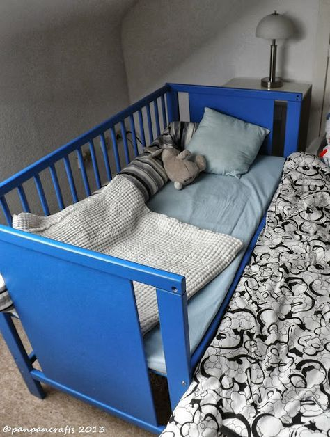 Reuse Your Stuff: IKEA HACK: Baby Crib to DIY Baby Bay/ Gitterbett zu DIY Beistellbett