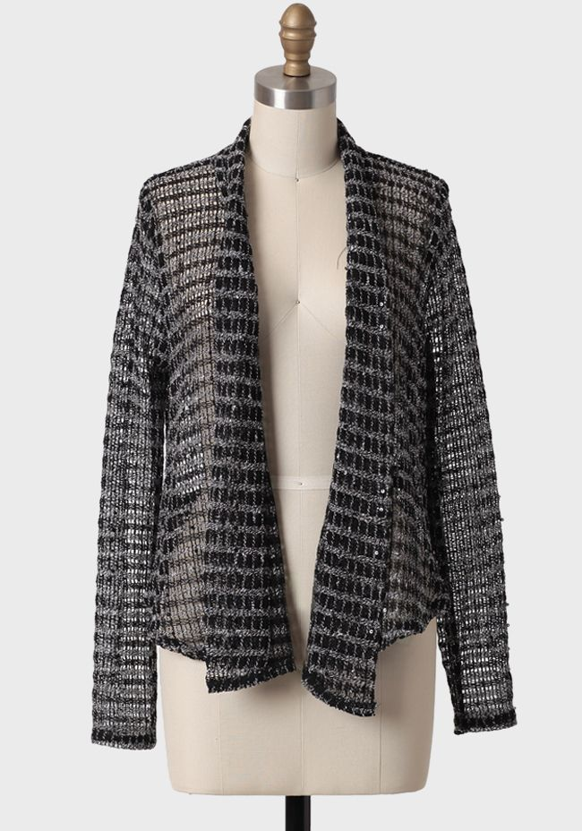 Posh Life Sequined Cardigan at #Ruche @Ruche