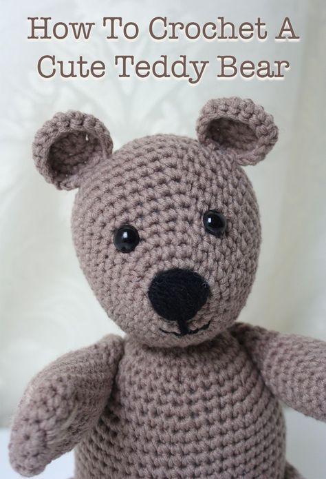 Free Crochet Teddy Bear Pattern Szydekowanie Pinterest