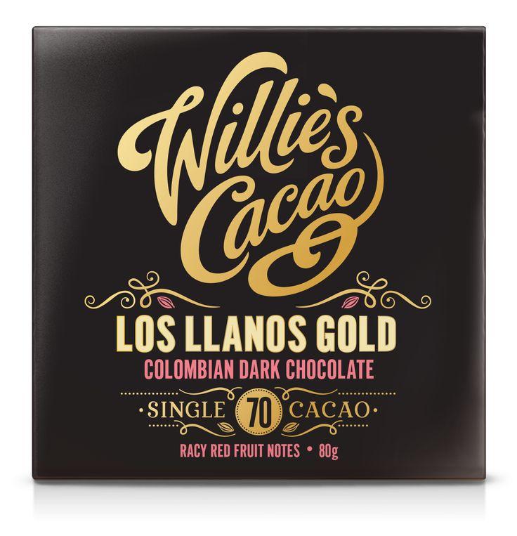 Willie's Cacao - Los LLanos Gold Colombian 70% Een Single Origin chocoladereep met een lekker hoog percentage cacao, nl. 70%.   http://www.bommelsconserven.nl/delicatessen/chocolade_online_bestellen_bij_bommels_conserven/willies_cacao/willies_cacao_repen/