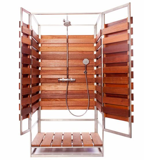 A Modern Pre Fab Outdoor Shower @moxiethrift on etsy Daehling: moxiethrift Barber